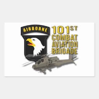 101st CAB - Apache Rectangular Sticker