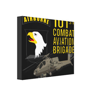 101st Combat Aviation - Apache Canvas Print