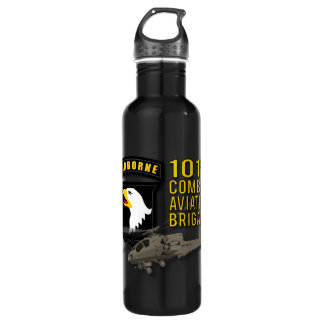 101st Combat Aviation - Apache Stainless Steel Water Bottle