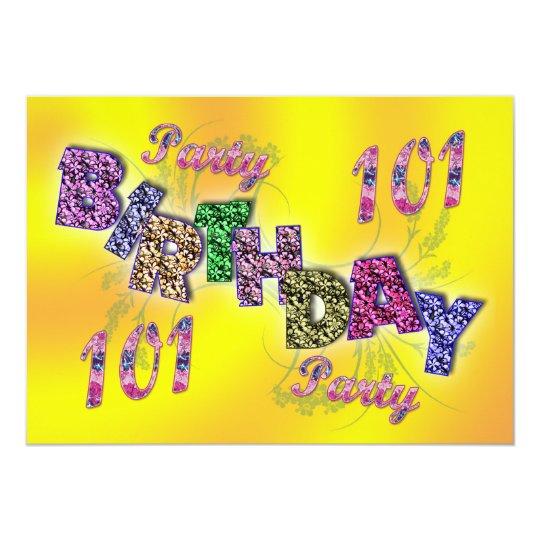 101st party invitation