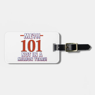 101st year old birthday designs tag for luggage