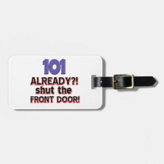 101st year old birthday designs travel bag tags