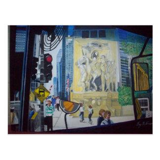 1025255  The Chicago Bridge by Fay Robinson Postcard