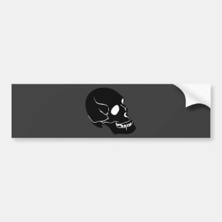 10262006 BLACK DEADLY EMO SKULL GRAPHIC LOGO ICON BUMPER STICKER