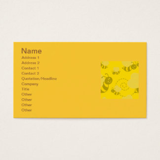 102705-buzzy-bee-light bumble bee buzzing yellows business card