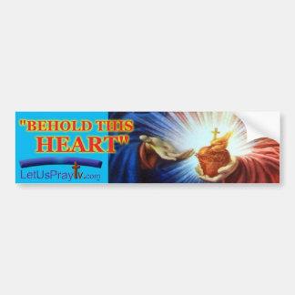 1028 c Sacred Heart Bumper Sticker