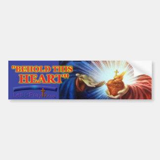 1028a Sacred Heart Bumper Sticker