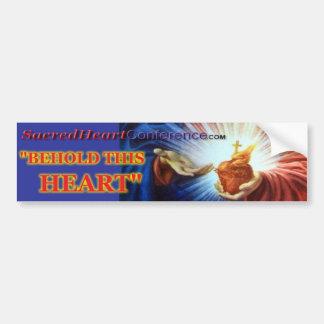 1028b Sacred Heart Bumpersticker Bumper Sticker