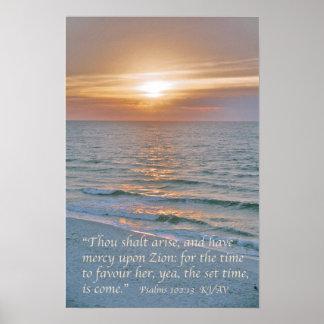 102:13 de los salmos con salida del sol de la póster