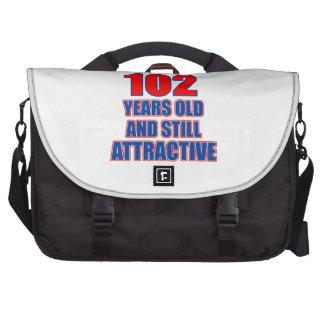 102 birthday design commuter bags