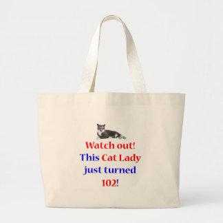 102 Cat Lady Jumbo Tote Bag