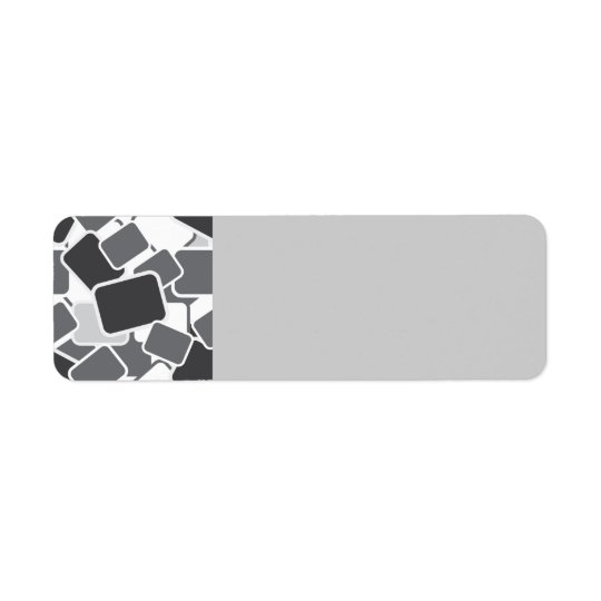 102 GREY RECTANGLE SHAPES LAYERED BLACK WHITE  PAT LABEL