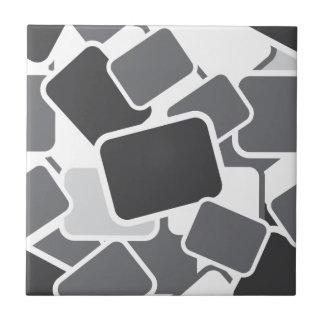 102 GREY RECTANGLE SHAPES LAYERED BLACK WHITE PAT TILES