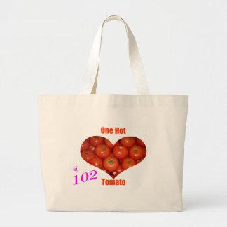102 One Hot Tomato Jumbo Tote Bag