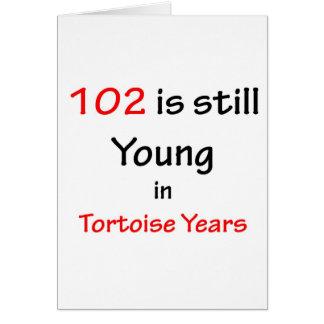 102 Tortoise Years Greeting Card