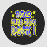 102 Year Olds Rock! (Blue) Sticker