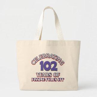 102 years of raising hell jumbo tote bag