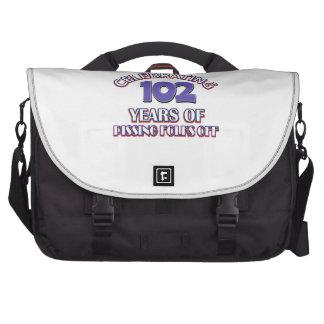 102 years of raising hell laptop computer bag