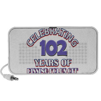 102 years of raising hell mini speaker