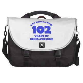102 years old birthday designs laptop bags