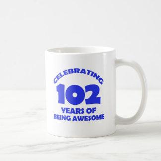 102 years old birthday designs classic white coffee mug