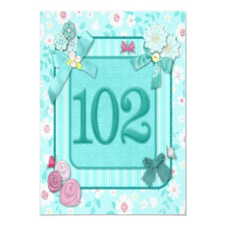 102a invitación de la fiesta de cumpleaños