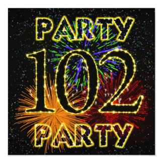 102a invitación de la fiesta de cumpleaños con los