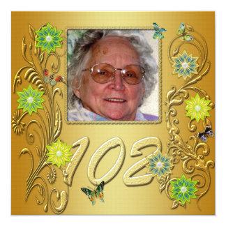 102a invitación de la fiesta de cumpleaños del