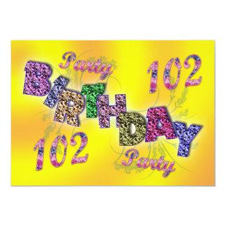 102a invitación del fiesta