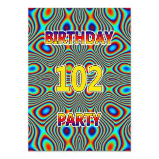 102a invitación psicodélica de la fiesta de
