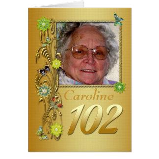 102a tarjeta de cumpleaños de la foto del jardín