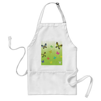 102Green  Background _rasterized Adult Apron