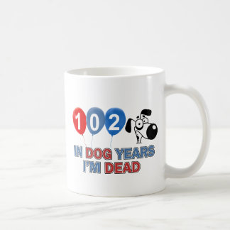 102nd birthday designs coffee mug