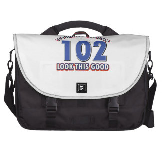102nd birthday designs bags for laptop