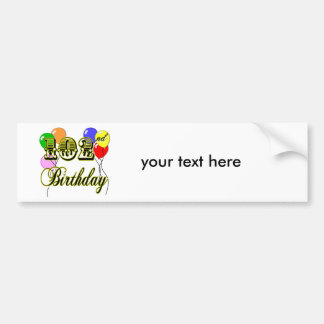 102nd Birthday with Balloons Bumper Sticker