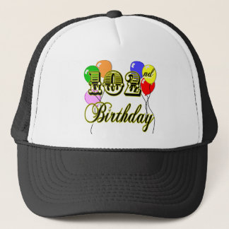 102nd Birthday with Balloons Trucker Hat
