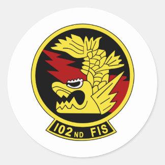 102nd flight squadron classic round sticker