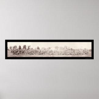 102nd Supply Company Yankee Photo 1917 Poster