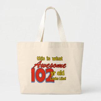 102nd year old designs jumbo tote bag