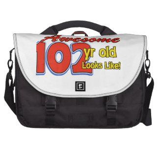 102nd year old designs laptop bag
