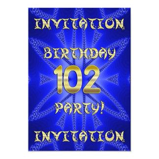 102o Invitación de la fiesta de cumpleaños