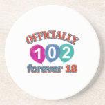 102os diseños del cumpleaños posavasos para bebidas