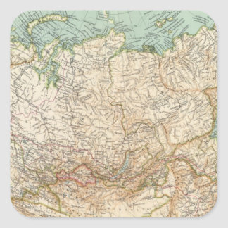 10304 Rusia asiática Pegatina Cuadrada