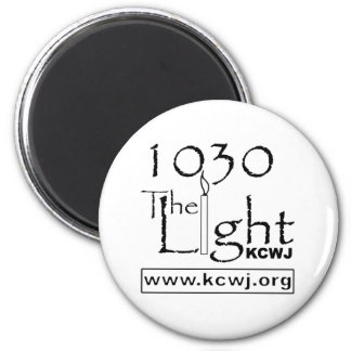 1030 The Light  Black 2 Inch Round Magnet