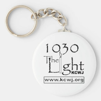 1030 The Light  Black Basic Round Button Keychain