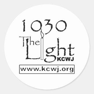 1030 The Light  Black Classic Round Sticker