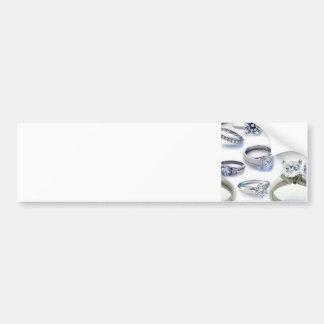103106-blings DIAMOND WEDDING RINGS JEWELERY BLING Bumper Sticker