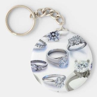 103106-blings DIAMOND WEDDING RINGS JEWELERY BLING Basic Round Button Keychain