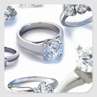 103106-blings DIAMOND WEDDING RINGS JEWELERY BLING Square Sticker