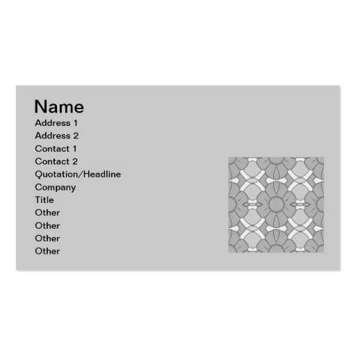 103106-floral Greys Grays pattern flowers modern Business Card